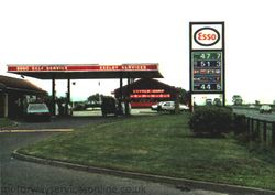 Old Esso petrol station.