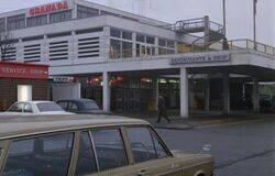 Old motorway services.